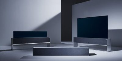LG USHERS IN THE TV OF TOMORROW WITH WORLD'S FIRST ROLLABLE OLED TV